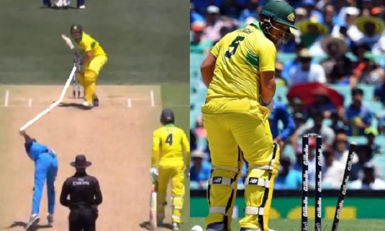 WATCH: देखिए कैसे भुवनेश्वर कुमार की तेज गेंद पर एरोन फिंच हुआ बोल्ड, गिल्लियां बिखेरते हुए देखते रह