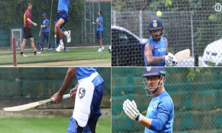 धोनी ने अभ्यास सत्र में जमकर की बल्लेबाजी, चौथे वनडे में खेलनी की संभावना Images
