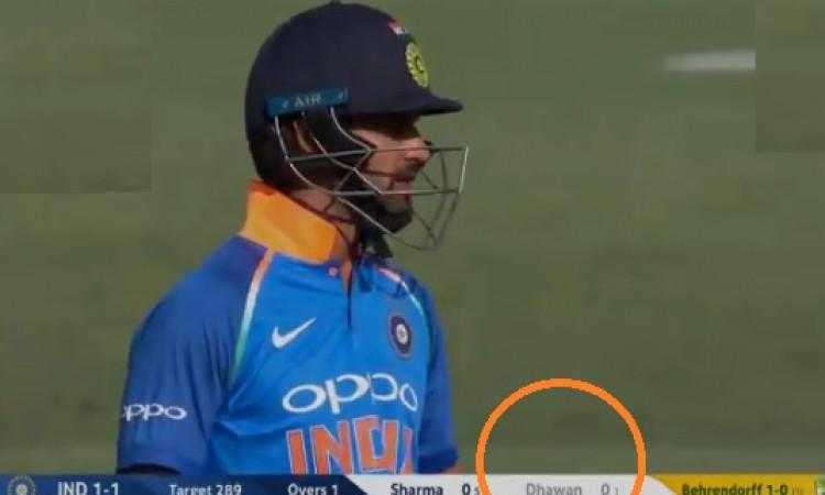 सिडनी वनडे में धवन 0 पर हुआ आउट, इंटरनेशनल क्रिकेट में पहली दफा उनके साथ हुआ ऐसा अनचाहा कारनामा Imag