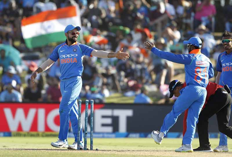 Indian Captain Virat Kohli During The 3rd ODI Match Between India And New Zealand Images