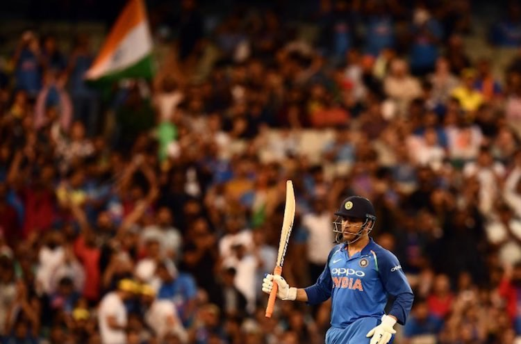 MS Dhoni Vs Australia Images