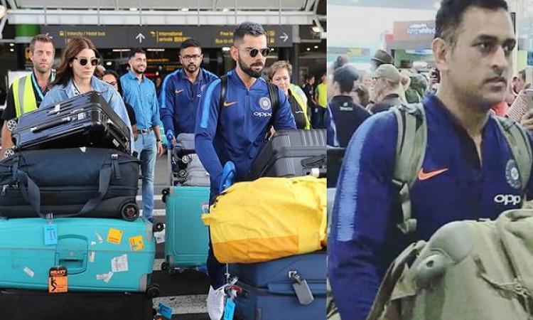 भारत की टीम न्यूजीलैंड पहुंची, विराट अपनी खूबसूरत वाइफ अनुष्का के साथ पहुंचे Images