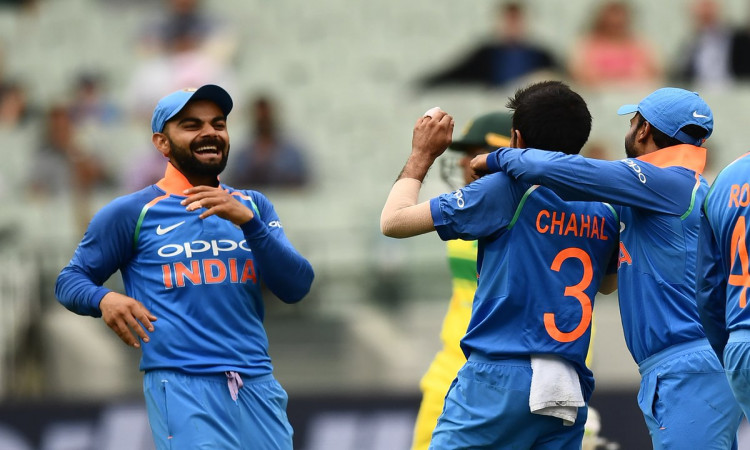 Chahal six-for restricts Australia to 230 in series decider Images