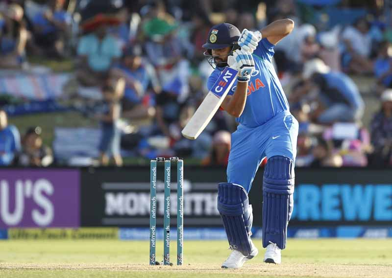 Rohit Sharma In Action During The 3rd ODI Match Between India And New Zealand Images