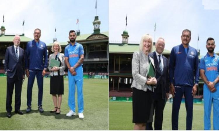 सिडनी वनडे से पहले विराट और रवि शास्त्री को मिला ऐसा बड़ा सम्मान जो सिर्फ लारा और सचिन को मिल पाया थ