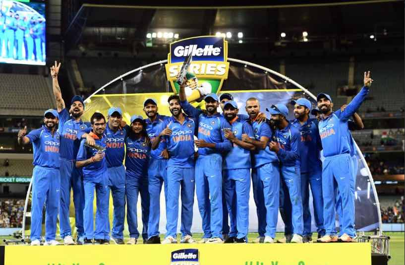 Team India After Winning ODI Series Images
