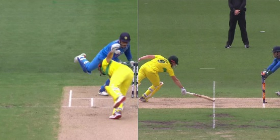 VIDEO तीसरे वनडे में भी दिखा धोनी का सुपरमैन वाला अंदाज, बड़े अजीब- ढ़ंग से किया शॉन मार्श को स्टंप