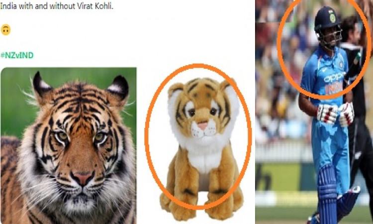 चौथे वनडे में भारतीय बल्लेबाजों की खराब हालत पर क्रिकेट फैन्स ने इस तरह से उड़ाया मजाक Images