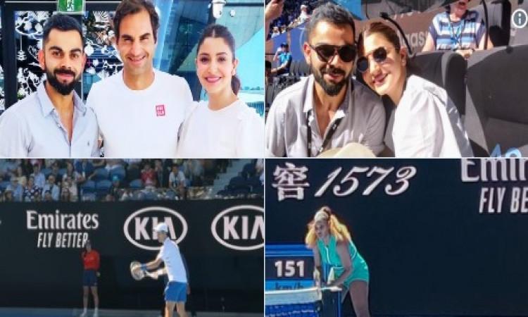 विराट कोहली अब अपनी वाइफ अनुष्का शर्मा के साथ आस्ट्रेलियन ओपन का ले रहे हैं मजा Images