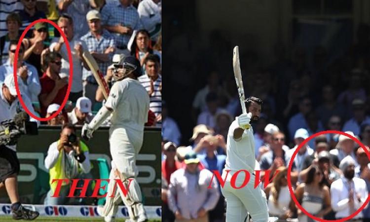 WATCH कैसे चेतेश्वर पुजारा को भी मिला सिडनी क्रिकेट ग्राउंड पर महान सचिन तेंदुलकर जैसा सम्मान Images