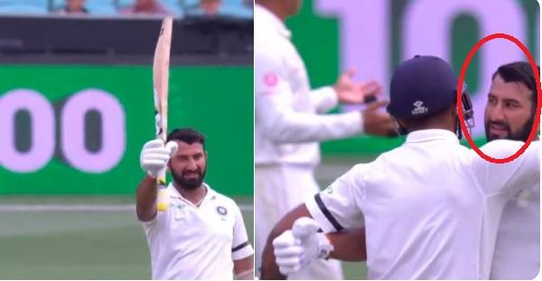 WATCH साल 2019 में टेस्ट क्रिकेट में पहला शतक जमाने के बाद पुजारा ने इस शानदार ढ़ंग से मनाया जश्न Im