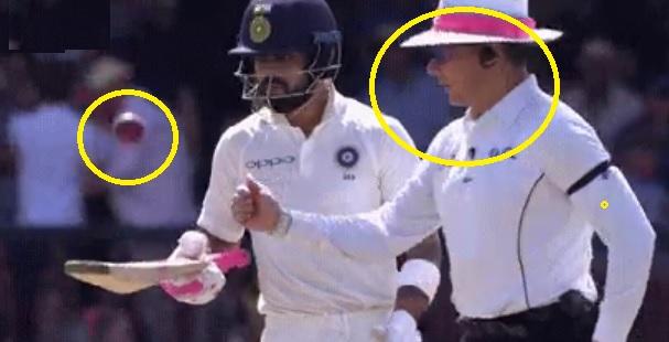 WATCH सिडनी टेस्ट में कोहली ने अंपायर से अचानक से गेंद छीन लिया और करने लगे इस तरह से तंग Images