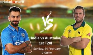 India vs Australia 1st T20i