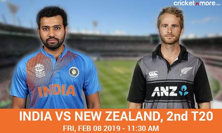 India vs New Zealand 2nd T20I