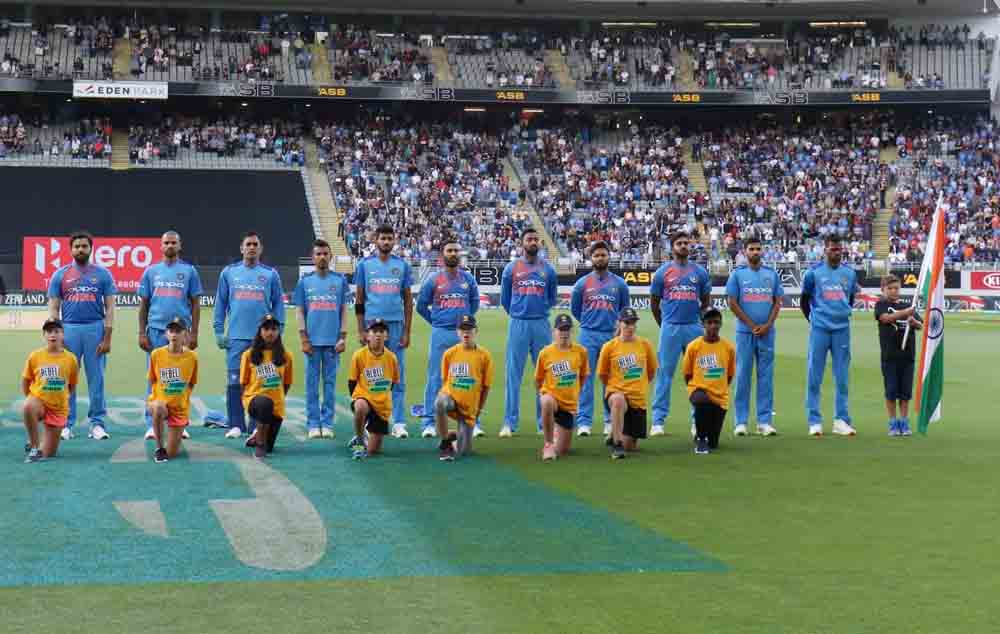 Indian Team During National Anthem Images