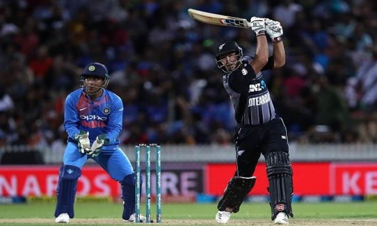 3rd T20I: New Zealand post mammoth total vs India Images