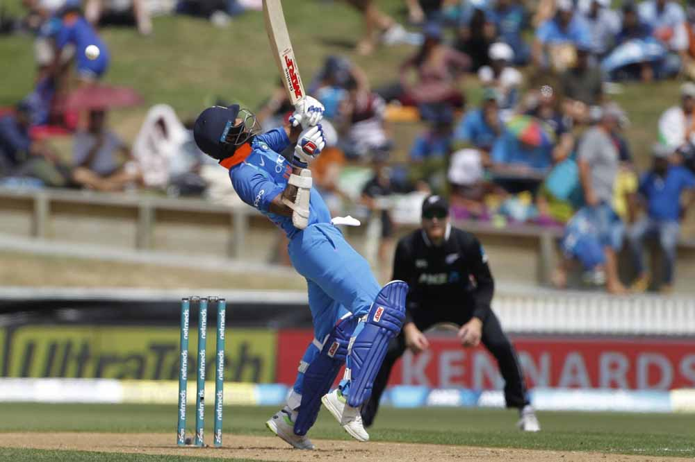 Indian Batsman Shikhar Dhawan Plays A Shot During The 4th Odi Images