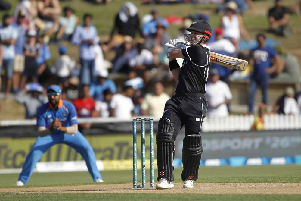 New Zealand Batsman Henry Nicholls Plays A Shot During The 4th Odi Images