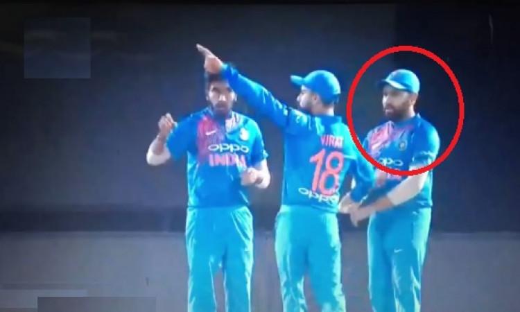 WATCH विराट कोहली ने पहले टी-20 में रोहित शर्मा को इस तरह से दिखाया नीचा, देखकर हैरान होंगे Images