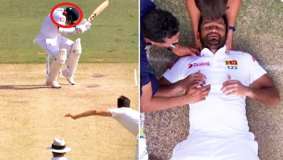 WATCH: श्रीलंकाई बल्लेबाजदिमुथ करुणारत्ने हुए गंभीर हादसे का शिकार, क्रिकेट जगत में छाई मायूसी Imag