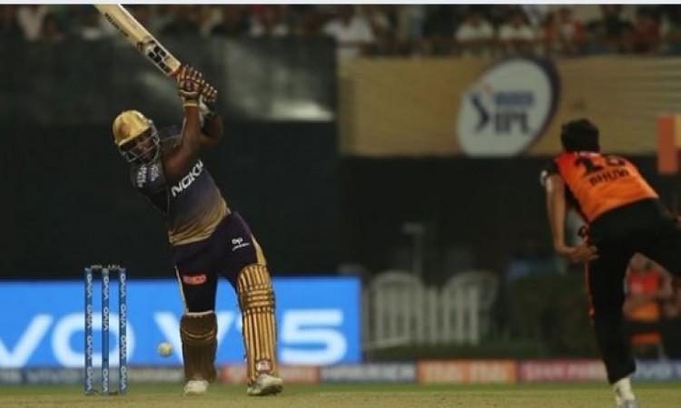 IPL 2019: आंद्रे रसेल ने खेली तूफानी मैच जीताऊ पारी, केकेआर ने सनराइजर्स हैदराबाद को 6 विकेट से दी म