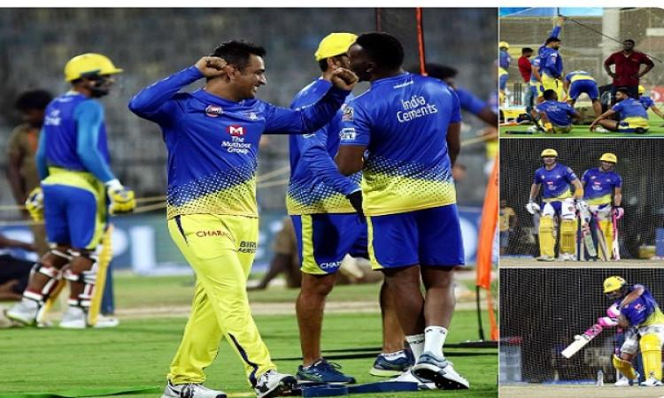 IPL 2019: अभ्यास सत्र के दौरान धोनी की मस्ती हुई वायरल तो डीविलियर्स मिले अपने खास दोस्त से, देखिए I