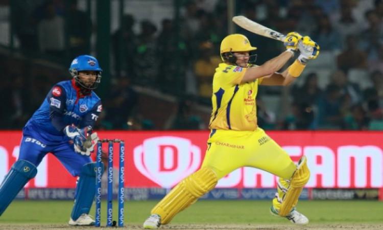 दिल्ली कैपिटल्स के खिलाफ जीत के हीरों रहे शेन वॉटसन ने कोटली की पिच को बताया चेन्नई से बेहतर Images