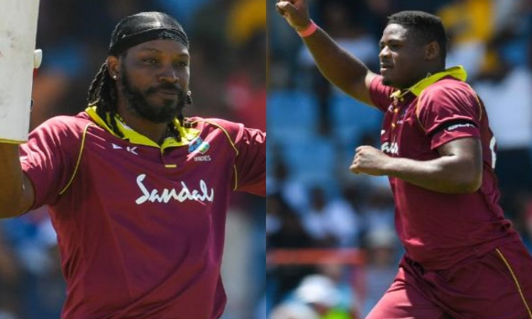 Chris Gayle+ Oshane Thomas