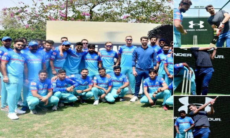 IPL 2019 दिग्गज ओलम्पियन फेल्प्स ने ऋषभ पंत के साथ मिलकर की मस्ती Images