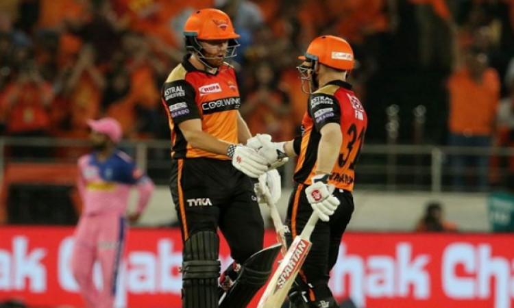 IPL 12: डेविड वॉर्नर और जॉनी बेयरस्टो की ताबड़तोड़ बल्लेबाजी, हैदराबाद ने राजस्थान को 5 विकेट से हरा