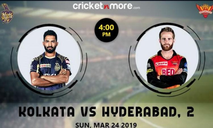 IPL 2019 Match 2: KKR vs SRH इन खिलाड़ियों के साथ मैदान पर उतरेगी, जानिए संभावित प्लेइंग XI Images