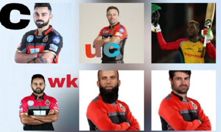 IPL 2019 में रॉयल चैलेंजर्स बेंगलोर टीम इन खिलाड़ियों के साथ खिताब जीतने की करेगी कोशिश (टीम प्रोफाइ