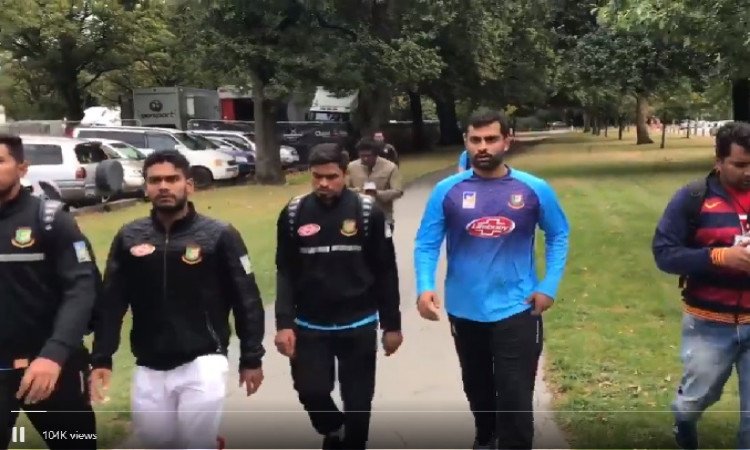 New Zealand Shooter Video Gallery: Bangladesh Cricketers Barely Escape New Zealand Shooting
