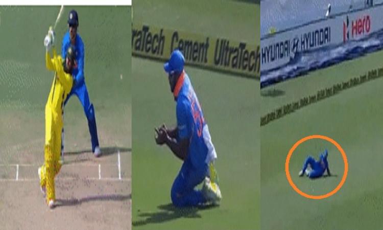 पहला वनडे: उस्मान ख्वाजा का विजय शंकर ने लपका हैरान करने वाला कैच, हर कोई हैरान Images