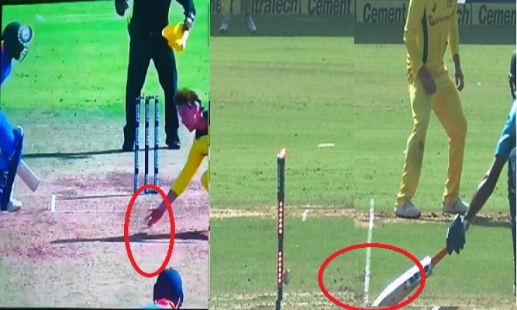 WATCH अच्छी पारी खेलने के बाद दुर्भाग्यपूर्ण रन आउट हुए विजय शंकर, देखिए Images
