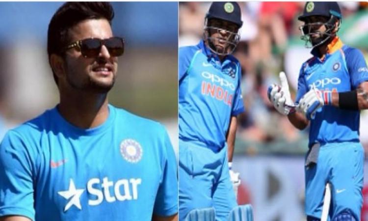 सुरेश रैना ने बताया, किस बल्लेबाजी क्रम पर धोनी और कोहली को करनी चाहिए बल्लेबाजी Images