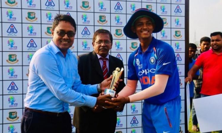 अफगानिस्तान अंडर-19 टीम को भारतीय अंडर 19 टीम ने वनडे में 7 विकेट से दी मात Images