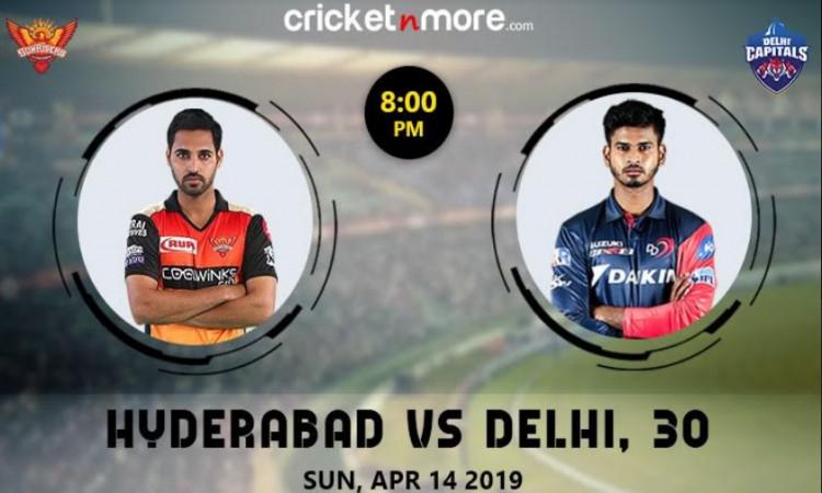 IPL 2019 Match 30: सनराइजर्स हैदराबाद बनाम दिल्ली कैपिटल्स (मैच प्रिव्यू) Images