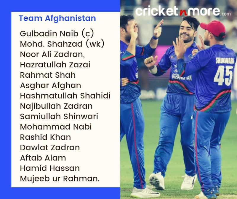 Afghanistan Squad For CWC19 Images in Hindi