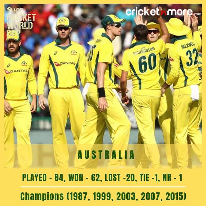 Australia Cricket Team Record In World Cup Images