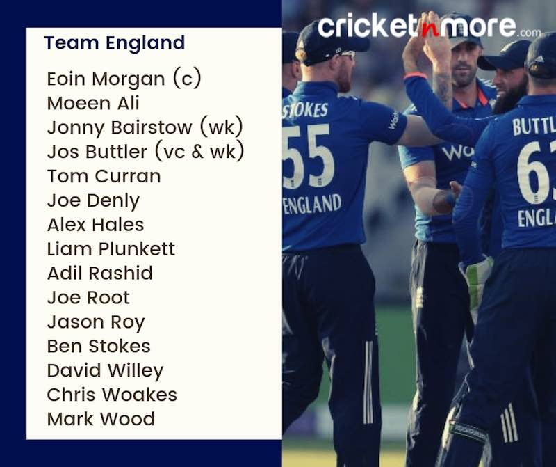England Squad For CWC19 Images in Hindi