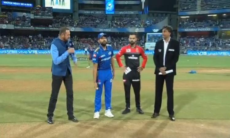 IPl 2019: मुंबई इंडियंस ने आरसीबी के खिलाफ जीता टॉस, पहले गेंदबाजी का फैसला, देखिए प्लेइंग XI की पूर