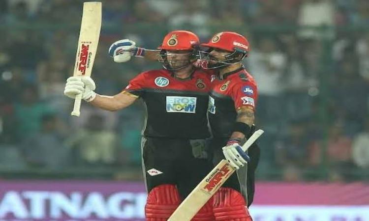 IPL 2019: कोहली और डीविलियर्स की तूफानी पारी, KKR को 206 रनों का टारगेट Images