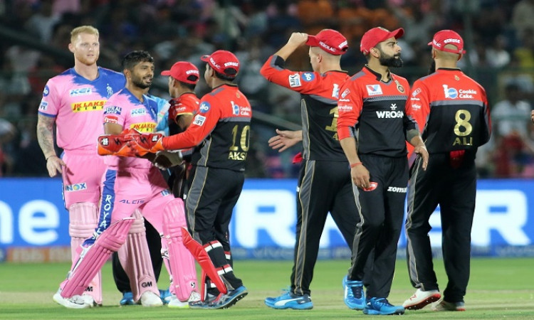 Image result for rajasthan royals vs royal challengers bangalore 2019