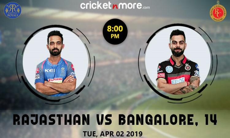 Rajasthan Royals vs Royal Challengers Bangalore