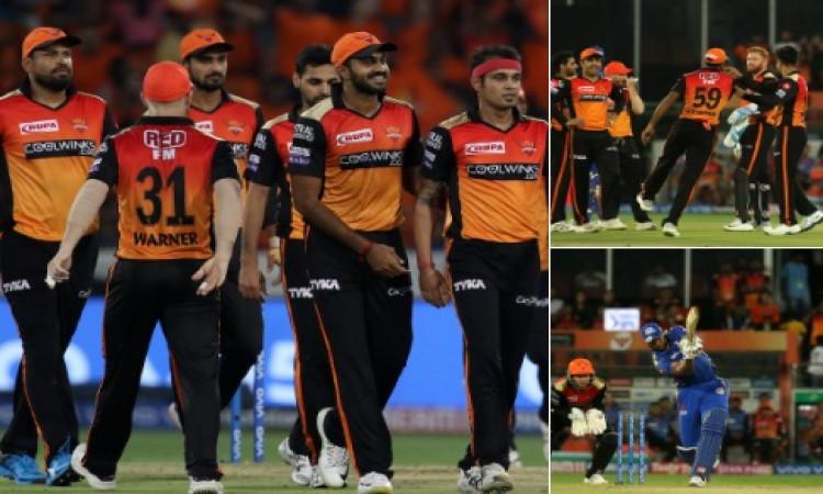 IPL 2019:  हैदराबाद की शानदार गेंदबाजी, मुंबई इंडियंस ने दिया  137 रनों का टारगेट Images