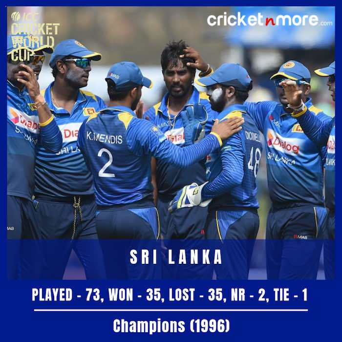 Sri Lanka Cricket Team Record In World Cup Images