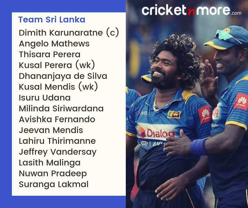 Sri Lanka Squad For CWC19 Images in Hindi