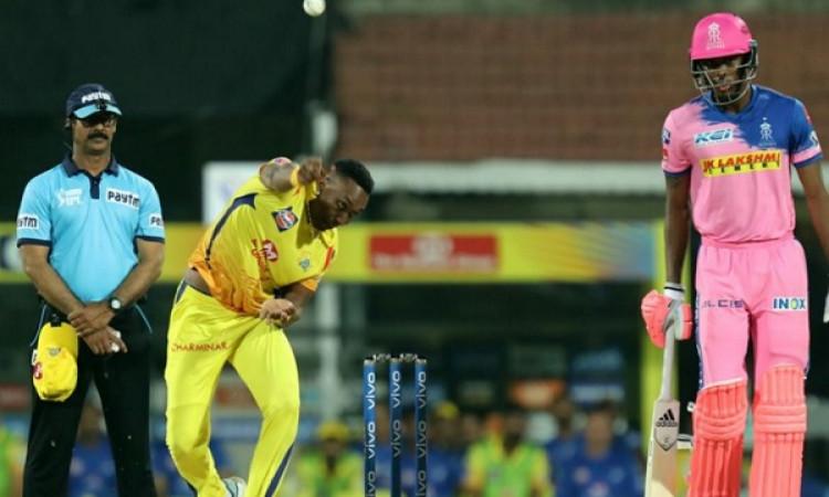 IPL 2019:  रोमांचक मैच में चेन्नई ने राजस्थान को 8 रनों से हराया, आखिरी ओवर में ड्वेन ब्रावो ने किया