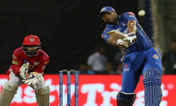 कीरोन पोलार्ड ने आतिशी पारी खेल मुंबई इंडियंस को दिलाई रोमांचक जीत, KXIP को मिली 3 विकेट से हार Imag